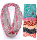 Circle Infinity Scarf Leopard & Polka Dot Light Weight Wrap Cowl Loop Free Ship