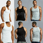 Lot Of 3, 6  Men Tank Top 100% Cotton A-Shirt Wife Beater Ribbed Pack Undershirt