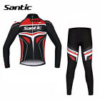 Men's Winter Cycling Fleece Thermal Bicycle Bike Suit Jersey +Long Pants XL-3XL