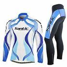 Men's Bicycle Cycling Jacket Bike Outdoor Jersey+3D Padded Long Pants Set XL-3XL