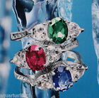 AVON Sterling Silver Colored Topaz Ring CLASSIC GEM COLLECTION