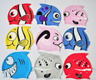Convenient Lovely Cartoon Fish Style Pure Silicone Swimming Cap Swim Hat ABCA