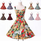 GRACE KARIN Vintage Floral Retro Swing 50s 60s Pinup Housewife Evening Dress