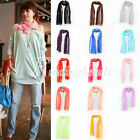 Korean Comfortable Candy Color Scarf Wrap Shawl Stole Folds Crinkle 160*32cm