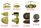 STEEL TRUNK HANDLE LOOPS, 7 Styles, 2 Finishes, Sold in Pairs or Lots of 6