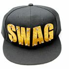 Unisex SWAG Letters Nut Fixed Snapback Adjustable Hat Baseball Cap Cotton Blend