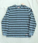 NEW LEVIS UPTON CREW LONG SLEEVED BLUE STRIPE SWEAT SHIRT BNWT