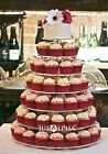 4 5 6 7 Tier Crystal Clear Acrylic Square Wedding Cupcake Stand Tower