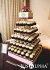 Внешний вид - Large 4 5 6 7 8 Tier Acrylic Glass Square Wedding Cupcake Stand Tower