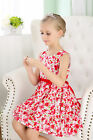 Bluesky kidsland Baby Girls Cotton Dress Size 000-4 with Flowers Red or Orange