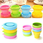 1× Silicone Collapsible Outdoor Folding Cup Retractable Drinking Water Cup