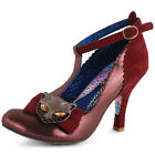 Irregular Choice Simba Womens Textile Burgundy Heels New Shoes All Sizes