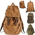 UK FAST    Unisex Vintage Canvas Travel Backpack Rucksack Shoulders Satchel Bags