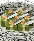 12 Natural Woven Favor Boxes With Lids in Natural or Green Wedding Party Favors