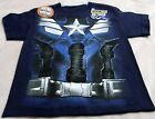 Capatain America Blue T-shirt Small(6/7) And Medium(8) White And Black Graphics