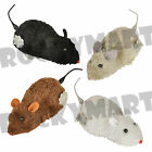 Wind Up Running Furry Mouse Mice Realistic Looking Prank Or Cat Toy Fun Novelty