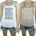 BILLABONG Ladies CRAVE Floral Print Singlet Top T Shirt (12) NEW