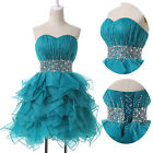 STOCK Masquerade Beaded Sexy  Ball Cocktail Evening Prom Party Short Mini Dress