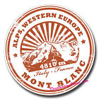 2 x Static Cling Stickers - Mont Blanc Alps Europe Travel Fun Car Window #0164