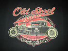OLD SKOOL HOT ROD VINTAGE WORN LOOK GRAPHIC SPEED SHOP POCKET T SHIRT