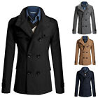 FREE SHIPPING~WINTER WARM Men's Slim Fit Double Breasted Trench Coat Jackets Top