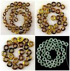 J60518 Tiger eye aventurine donut loose beads,More size to select