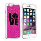 For iPhone 6 6s Plus GLITTER Bling Hard Case Cover LOVE Volleyball