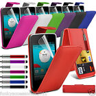 Vodafone Smart 4 Power PU Leather Top Flip Phone Case Skin Cover Pen+Film+Pen