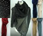 Ladies Long Rain Drops Comfortable Warm All Year Winter Scarf Shawl Wrap Scarves