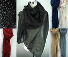 Ladies Long Rain Drops Comfortable Warm All Year Summer Scarf Shawl Wrap Scarves