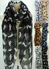Fabulous All Year Pussy Cat Feline Animal Print Neck Scarf Wrap Shawl Scarves