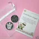 Pewter Pocket Token Coin Charm Keepsake Guardian Angel St Christopher Gift Card