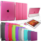 Magnetic Smart Cover Leather + Back Case for  Apple iPad 4 iPad 3 IPAD 2