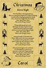 A4 Parchment Poster Christmas The First Noel  - Greeting Card Option Available