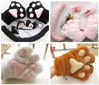 Cosplay Neko Anime costume lolita plush party glove CAT PAWS Claw ears tail set.