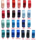 "25y 50y 38mm 1 1/2"" Red Blue Shades Premium Heavy Double Sided Satin Ribbon Eco"