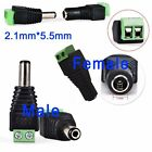 New DC Connector Power Jack Adapter Plug Male Female 2.1mmX5.5mm For CCTV Camera