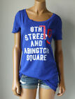 NWT Ruehl NO 925 BY ABERCROMBIE BLUE GRAPHIC T-SHIRT TEE MEDIUM M