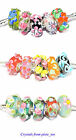 Handmade Murano Glass Lampwork Flower Charm Bead, Big Hole fit European Bracelet