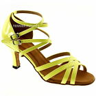 TPS Fluorescence Yellow Latin Ballroom Salsa Custom-made Dance Shoes D1007