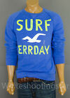 "NWT HOLLISTER HCO MENS ""Dana Strands"" Blue Seagull Fleece Sweatshirt"