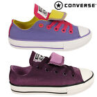 Girl 's Boy's Junior Kids Converse Dual Tongue Canvas Shoes Trainer School Play