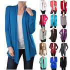 Внешний вид - USA Women Long Sleeve Cardigan Open Front Draped Solid Casual Irregular Hem