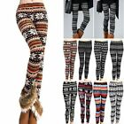 Fad New Womens Knitted Warm Tights Winter Leggings Soft Pants Cotton Blends