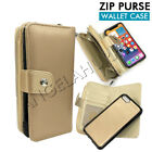 Magnetic Zip Leather Wallet Case Cover For iPhone 6 6S Plus 7 7