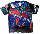 Boys THE AMAZING SPIDERMAN vibrant blue summer t-shirt Size XS-L 4-7y Free Ship