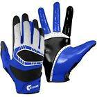 Cutters Rev Pro 3D Triple Contour C-Tack Football Gloves, Black/Royal. S540-10