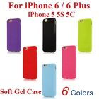 Ultra Slim Soft Gel Case Cover for Apple iPhone 5 5S 5C 6 (4.7'') 6 Plus (5.5'')