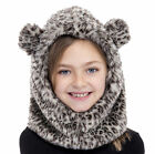 Girls Animal Faux Fur Hoodie Hat Age 3-10 Years Available