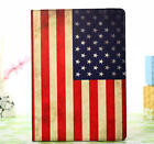 New Classical USA Flag PU Leather Stand Sleep Wake Case Cover For Apple iPad USF